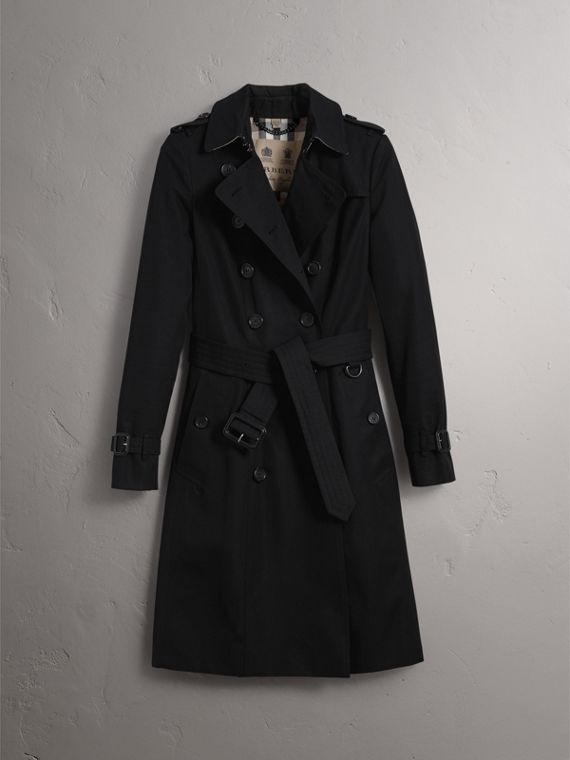 The Chelsea – Long Heritage Trench Coat in Black - Women | Burberry Hong Kong - cell image 3