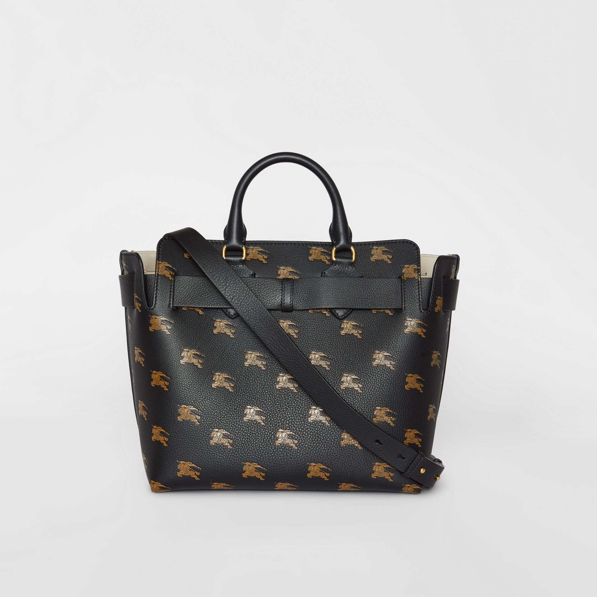 Borsa The Belt media in pelle con cavaliere equestre (Nero) - Donna | Burberry - immagine della galleria 7