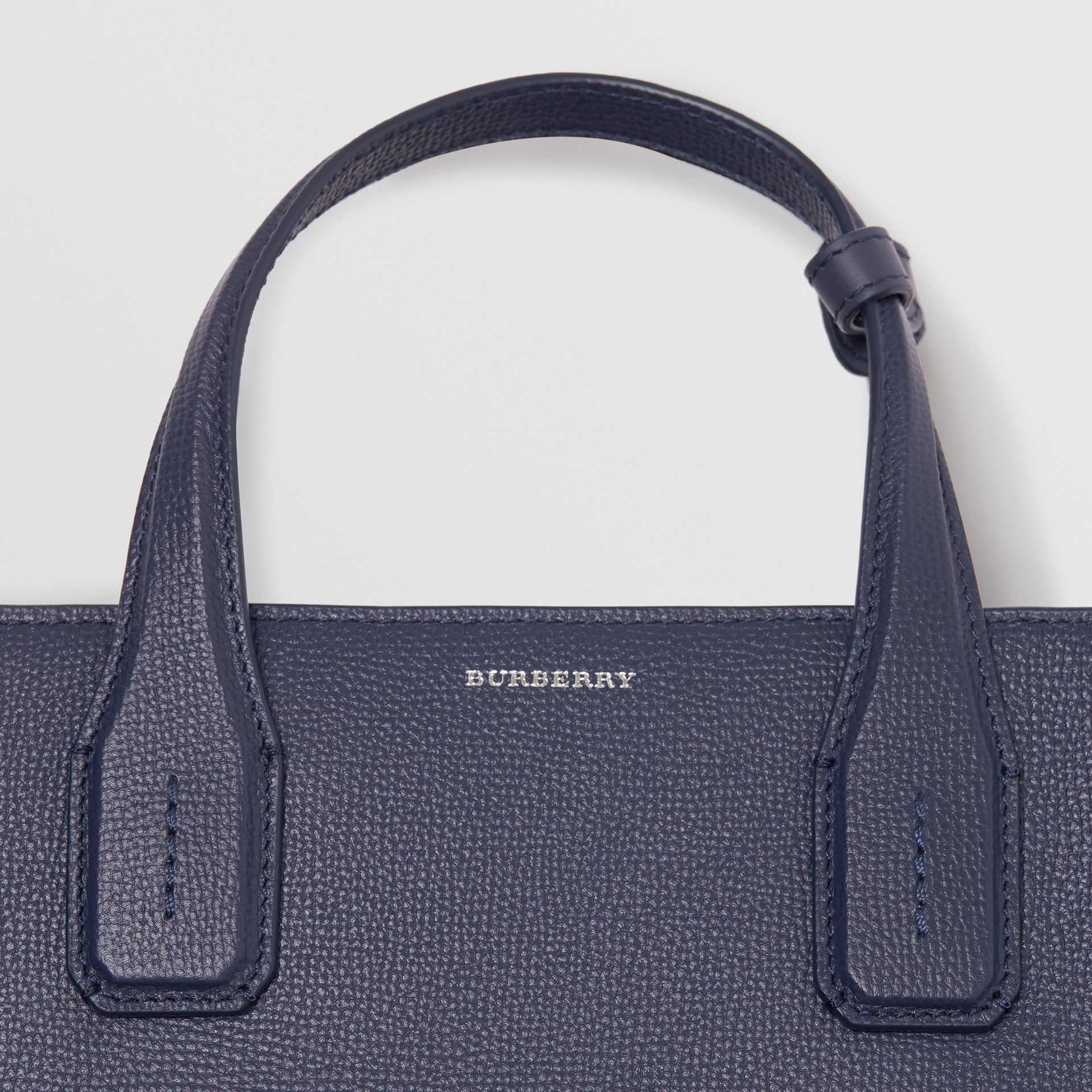 The Medium Banner in Leather with Grommeted Strap in Regency Blue - Women | Burberry Australia - gallery image 1