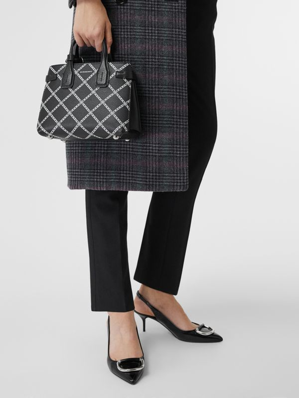 The Baby Banner in Link Print Leather in Black - Women | Burberry - cell image 3