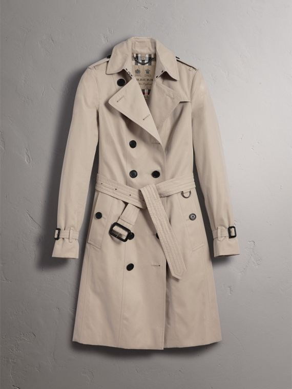 The Sandringham – Long Heritage Trench Coat in Stone - Women | Burberry - cell image 3