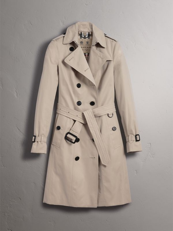 The Sandringham – Long Trench Coat in Stone - Women | Burberry United States - cell image 3