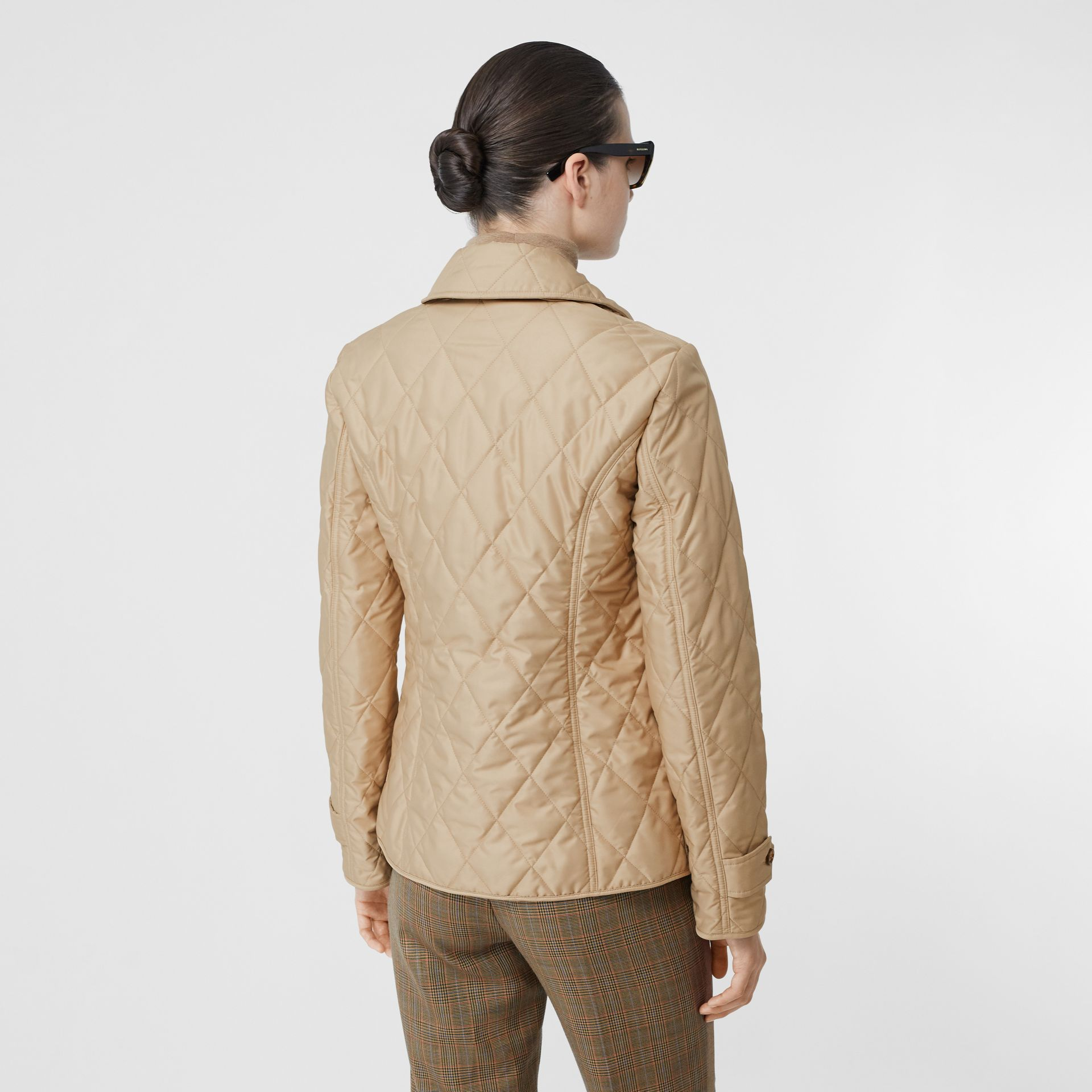 Diamond Quilted Thermoregulated Jacket in New Chino - Women | Burberry United States - gallery image 2