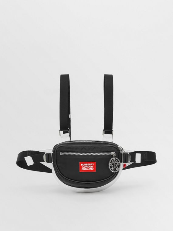 Logo Appliqué ECONYL® Cannon Belt Pack in Black/white/red