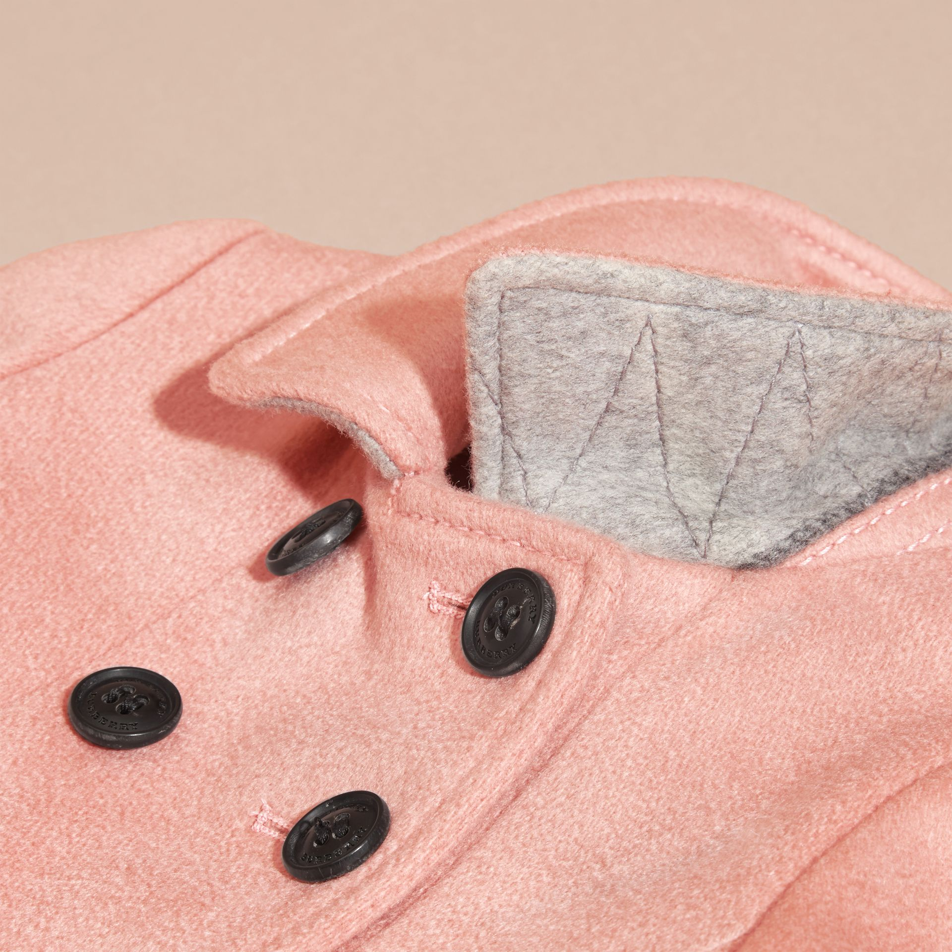 Tailored Cashmere Coat in Chalk Pink - gallery image 2
