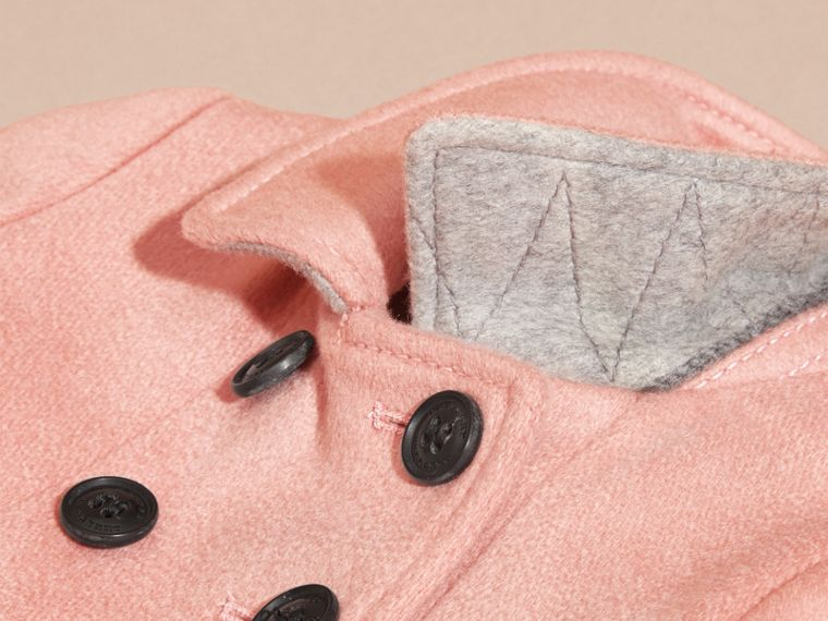Tailored Cashmere Coat in Chalk Pink - cell image 1