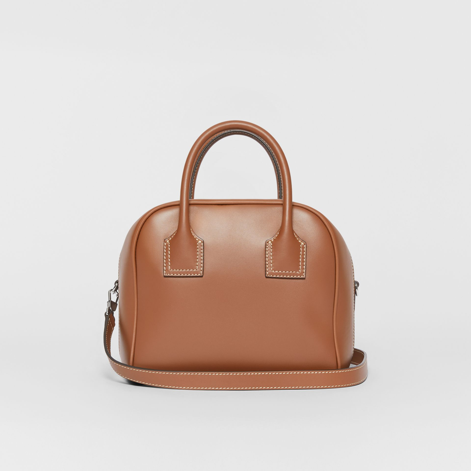 Small Leather Cube Bag in Malt Brown - Women | Burberry - gallery image 7