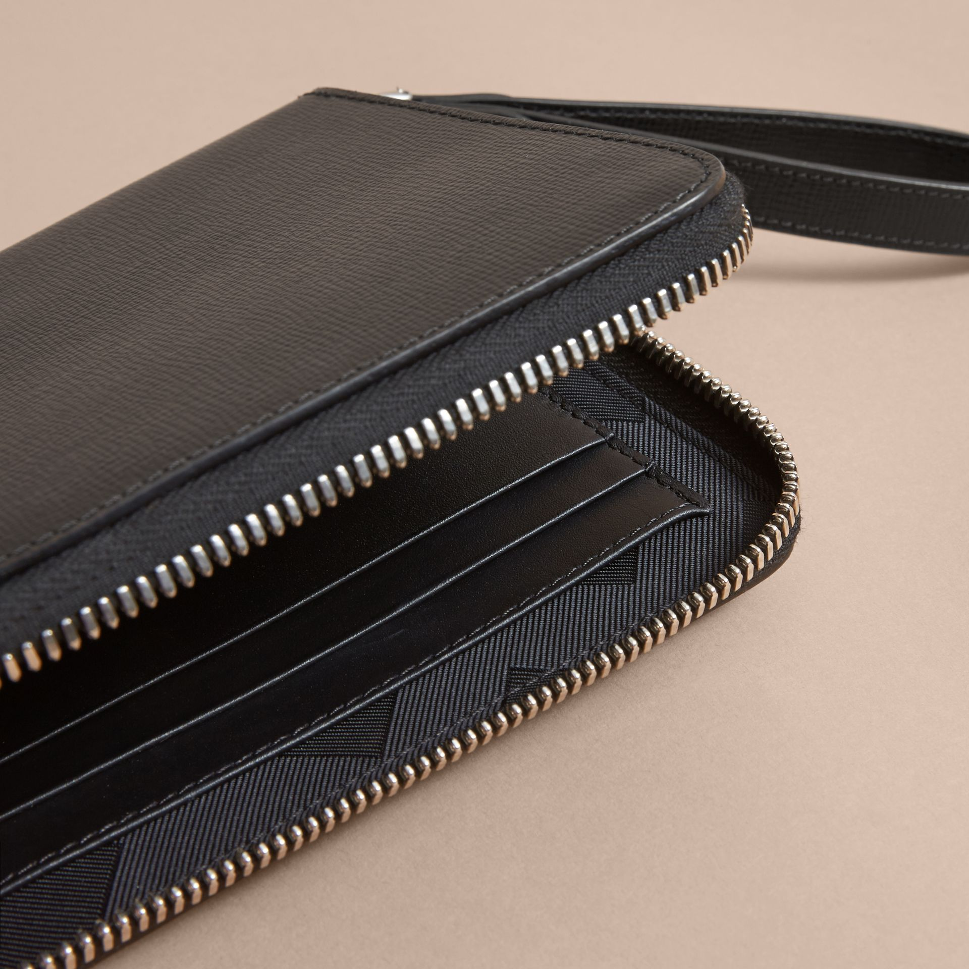 Beasts Motif Leather Travel Wallet - Men | Burberry Singapore - gallery image 4
