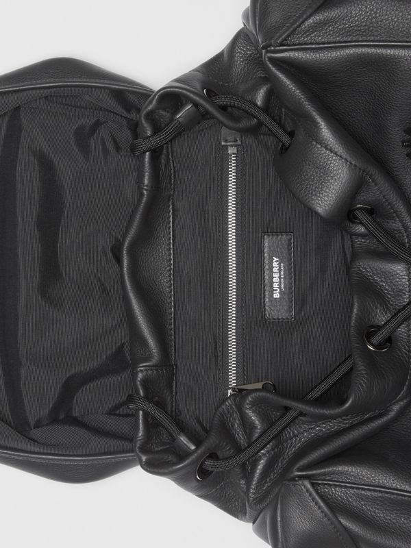 Grainy Leather Backpack in Black - Men | Burberry - cell image 3