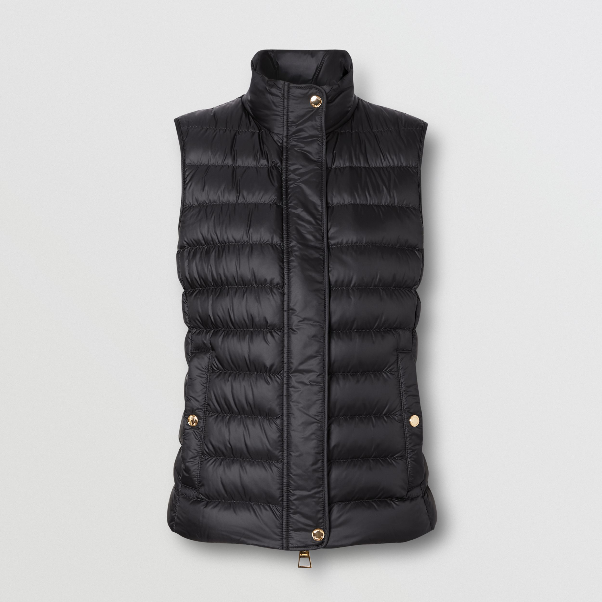 Monogram Print-lined Lightweight Puffer Gilet in Black - Women | Burberry - 4