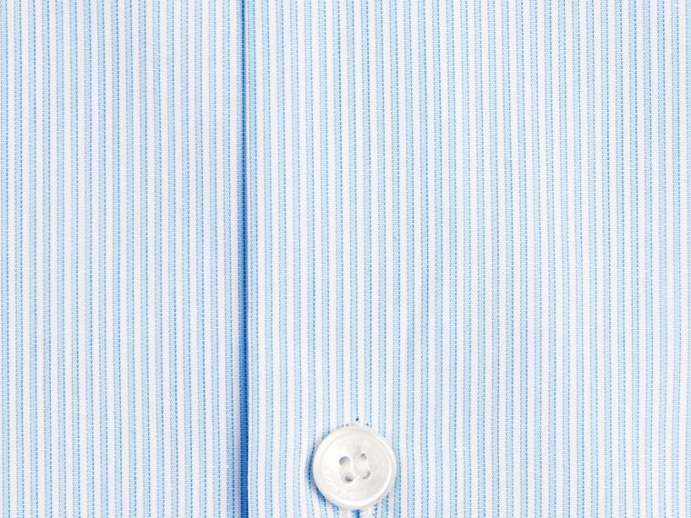 Modern Fit Striped Cotton Poplin Shirt in City Blue - cell image 1