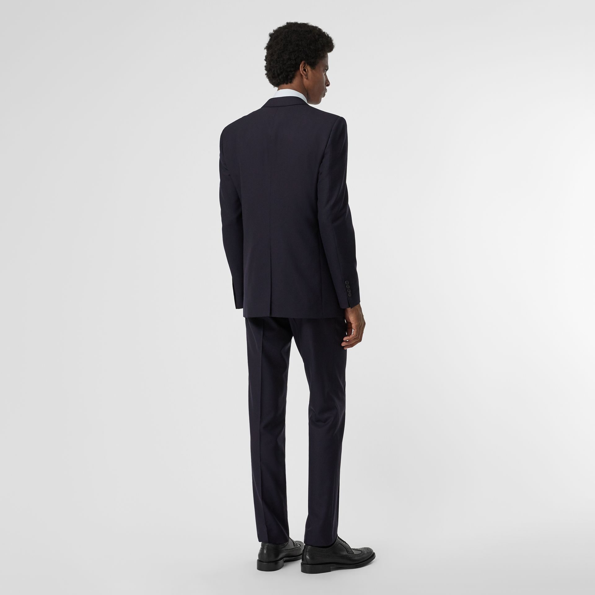 Modern Fit Wool Suit in Navy - Men | Burberry Singapore - gallery image 2
