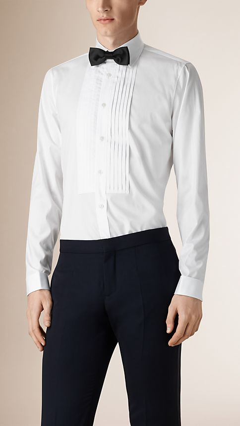 Optic white Cotton Dress Shirt - Image 1