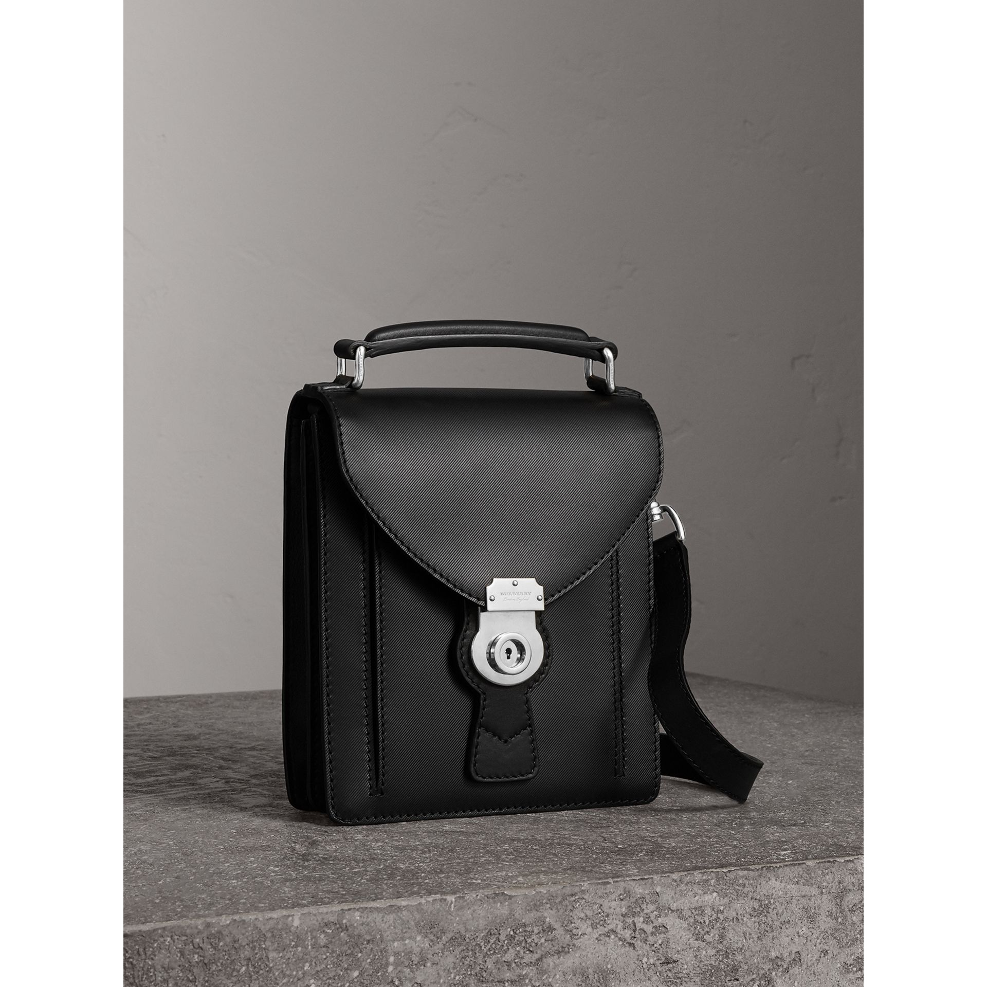 The Small DK88 Satchel in Black - Men | Burberry United Kingdom - gallery image 6