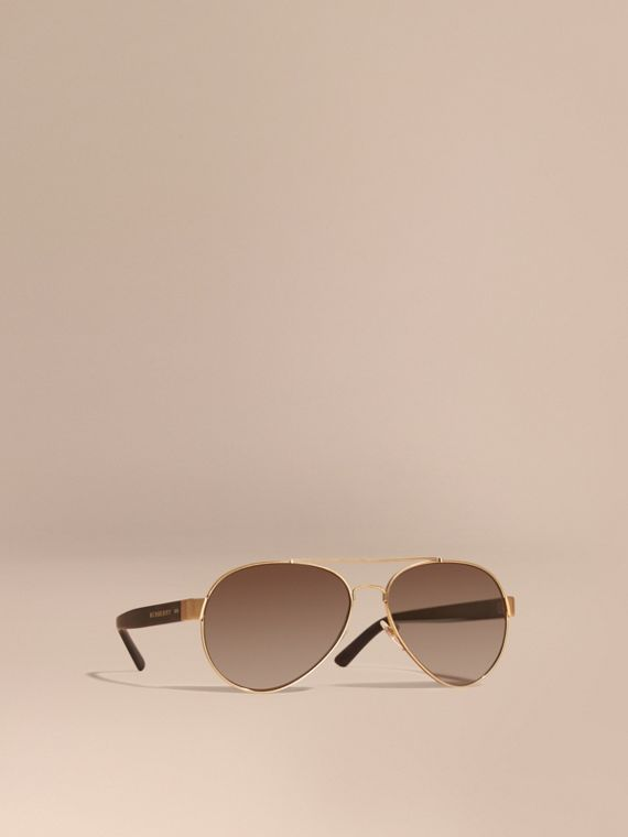 Pilot Sunglasses Gold