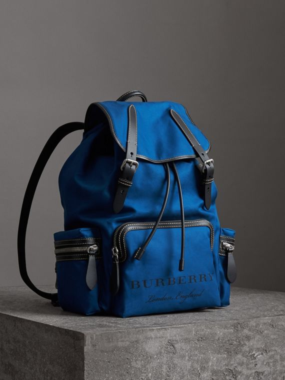 Zaino The Rucksack grande in tela di cotone (Blu  Intenso)