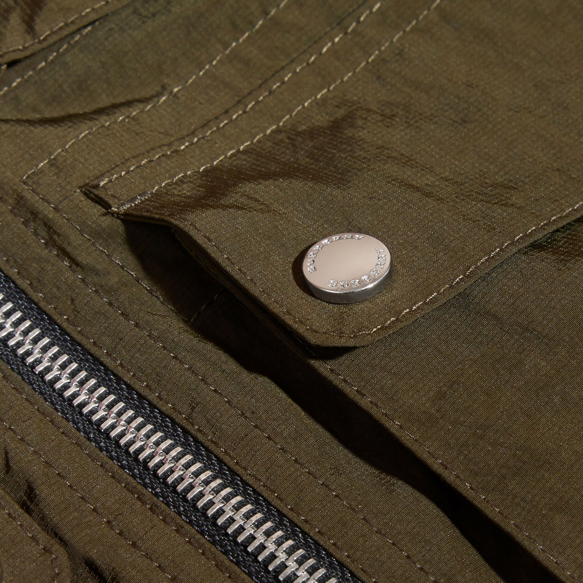 Hooded Field Jacket with Oversize Pocket Detail - gallery image 2