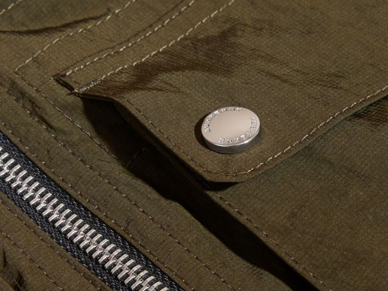 Hooded Field Jacket with Oversize Pocket Detail - cell image 1
