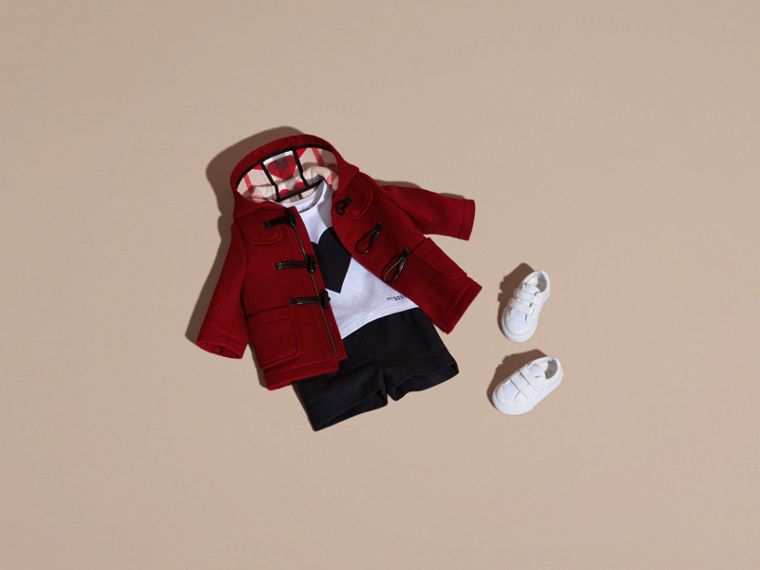Windsor red Wool Duffle Coat with Check and Hearts Lining - cell image 4