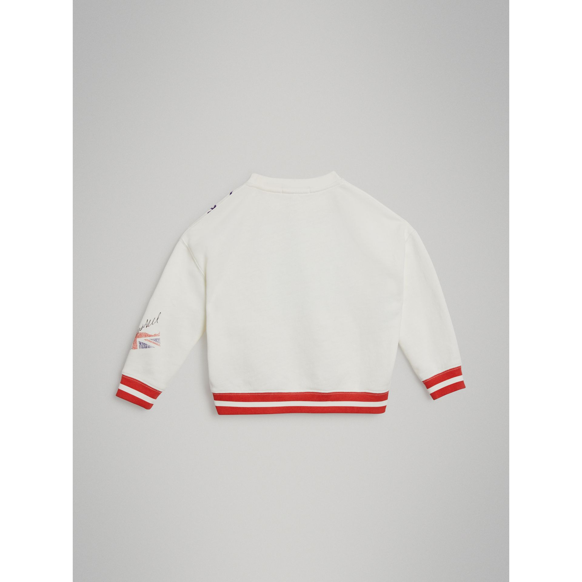 London Polaroid Print Cotton Sweatshirt in Ivory | Burberry Australia - gallery image 3