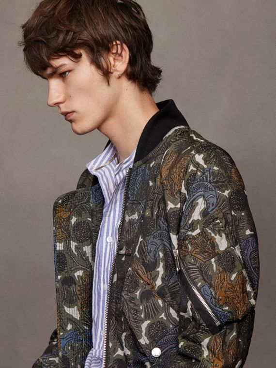 Beasts Print Lightweight Bomber Jacket - Men | Burberry