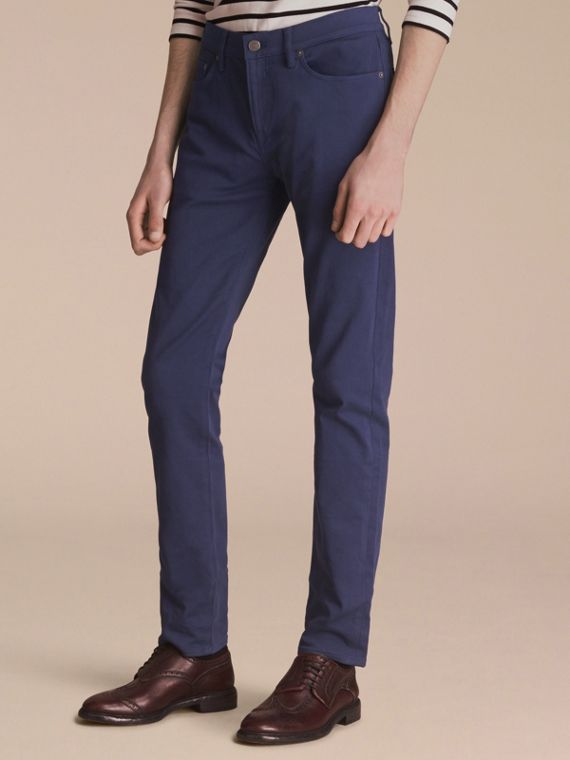 Slim Fit Stretch Japanese Denim - Men | Burberry Australia