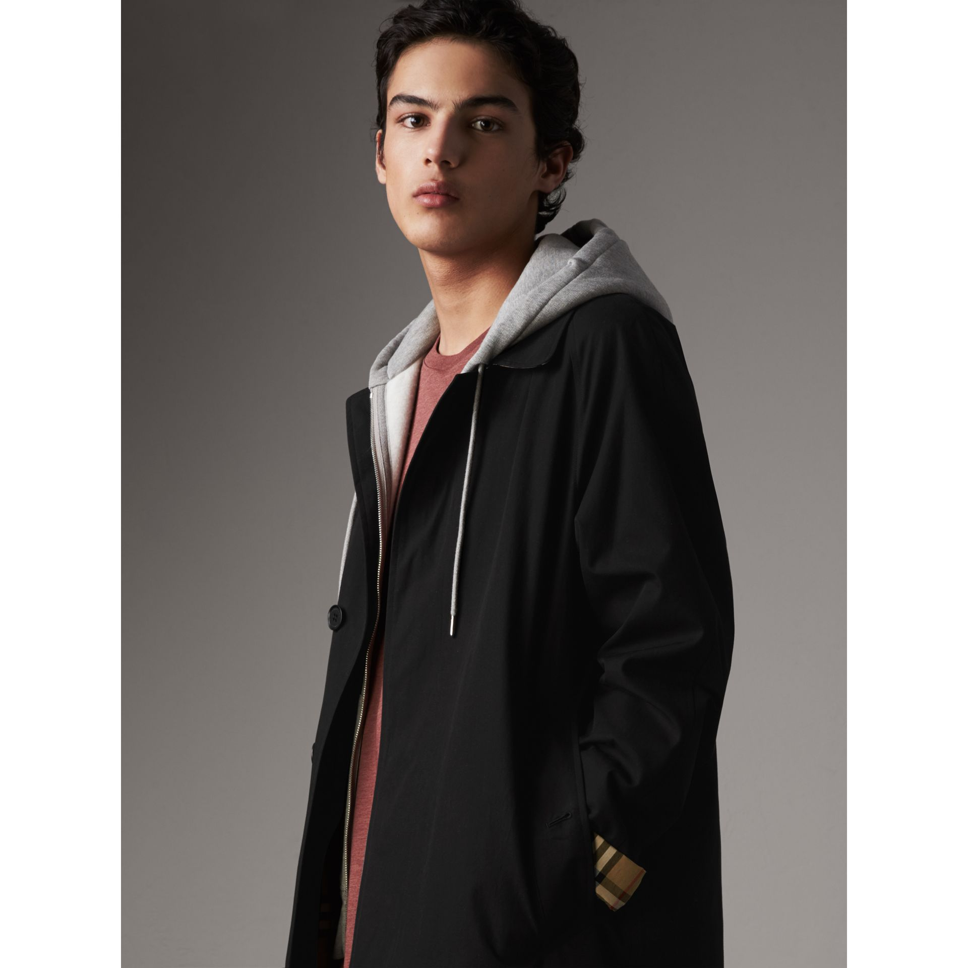 The Camden – Long Car Coat in Black - Men | Burberry United States - gallery image 6
