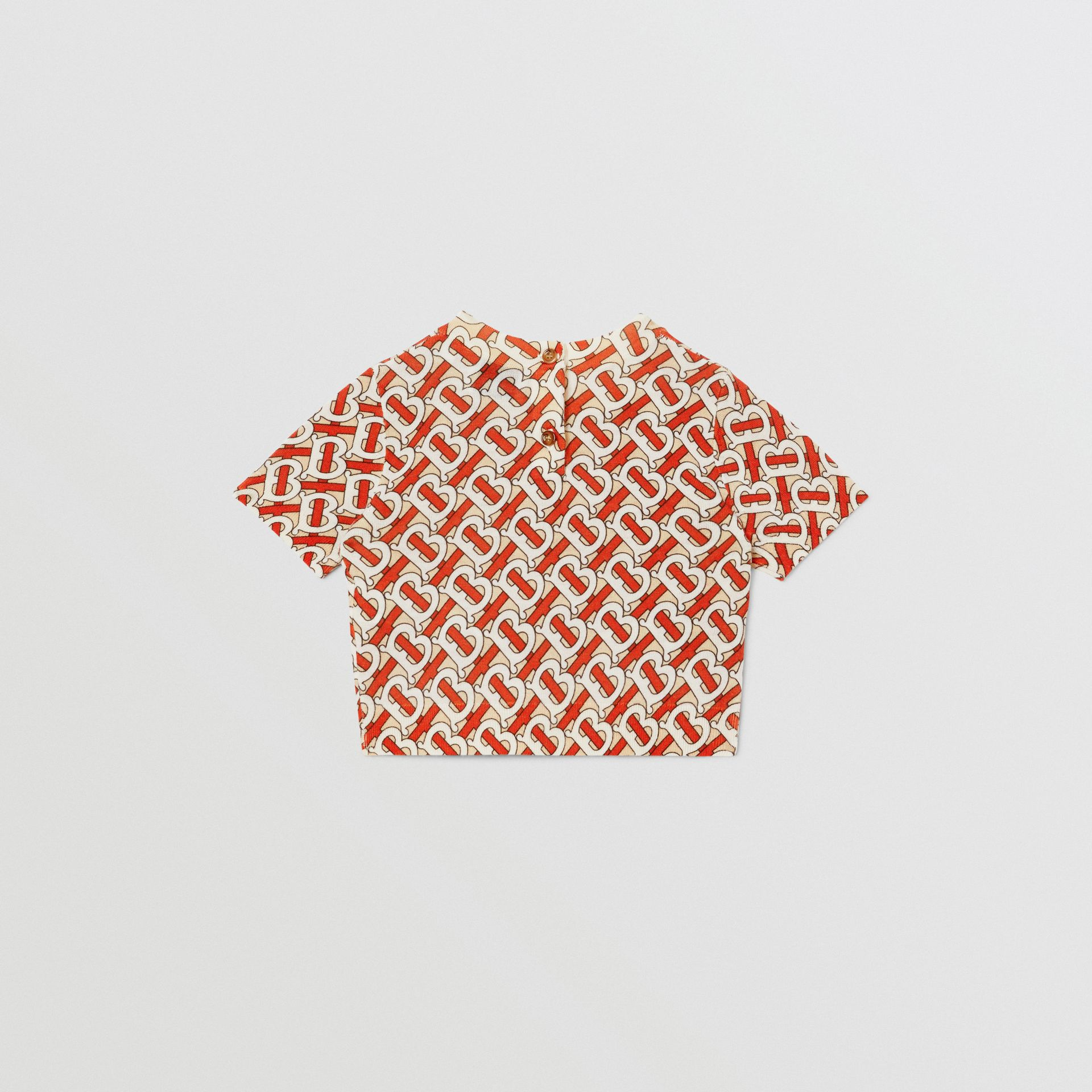 Monogram Print Merino Wool Two-piece Set in Vermilion - Children | Burberry - gallery image 7