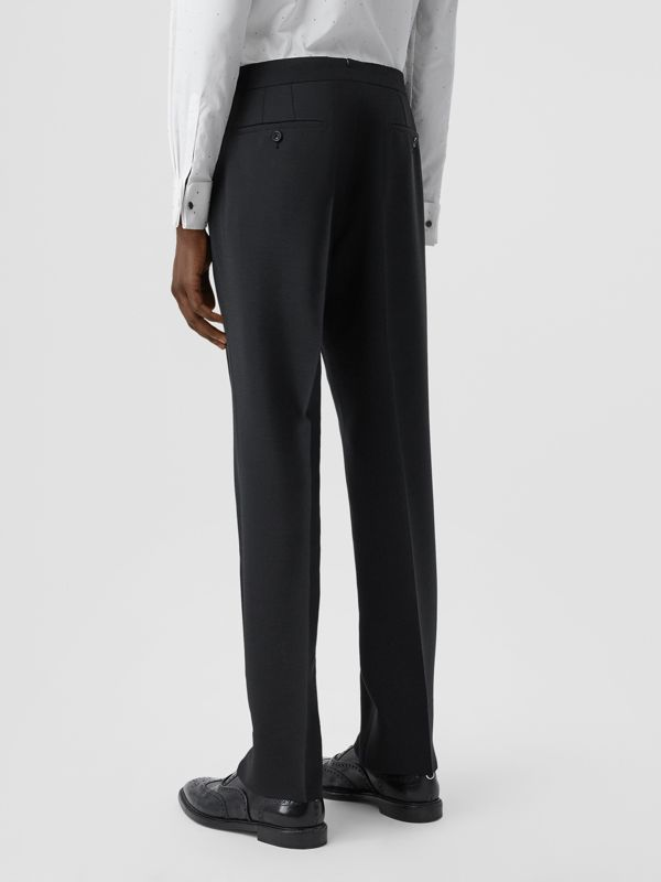 Classic Fit Embellished Mohair Wool Tailored Trousers in Black - Men | Burberry - cell image 2