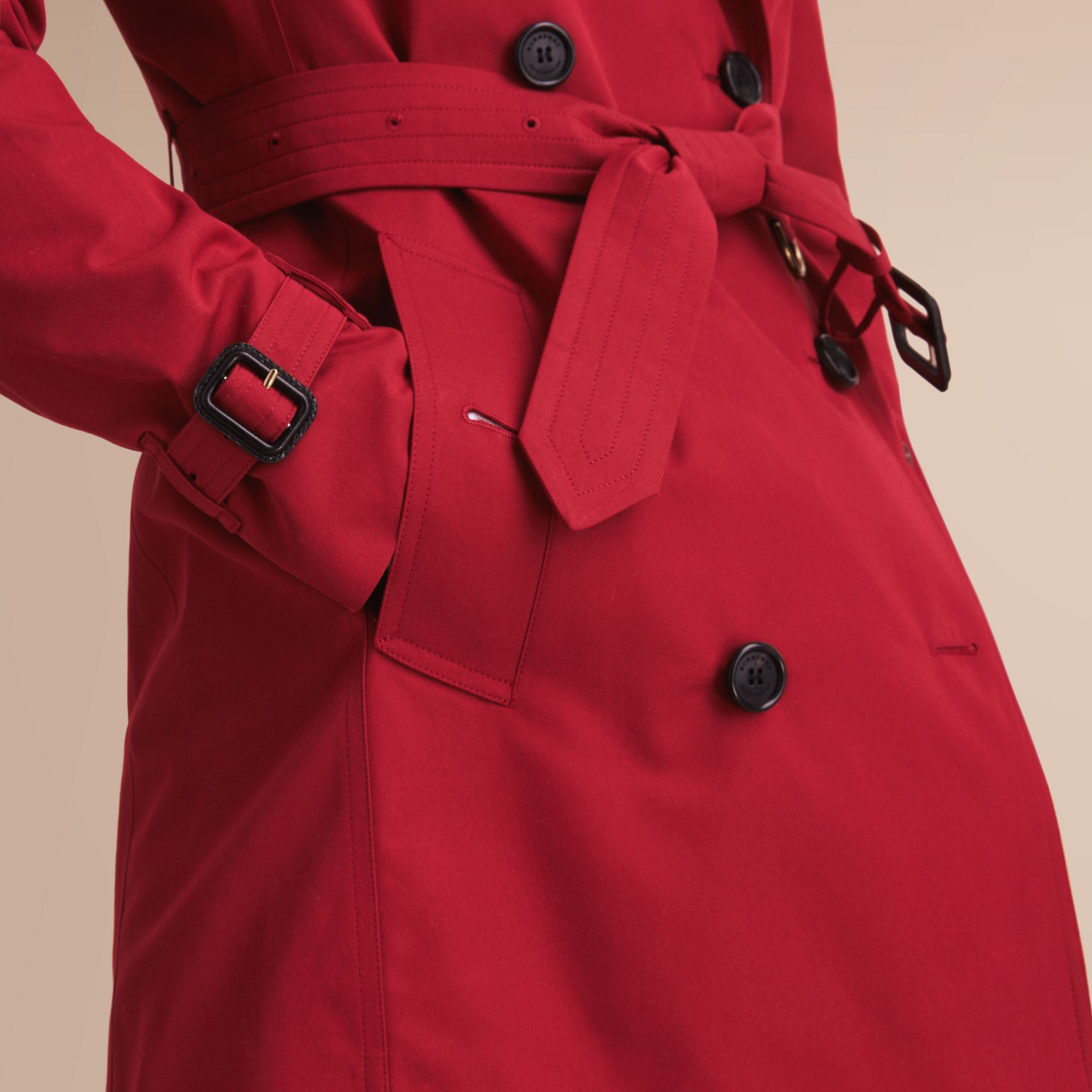 The Kensington – Long Heritage Trench Coat Parade Red - gallery image 6