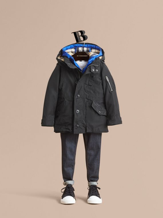 Detachable Hood Coat with  Down-filled Gilet - Boy | Burberry Canada