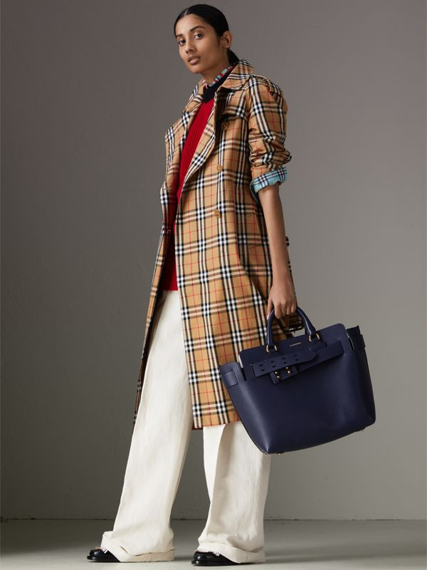 The Medium Leather Belt Bag in Regency Blue - Women | Burberry - cell image 2