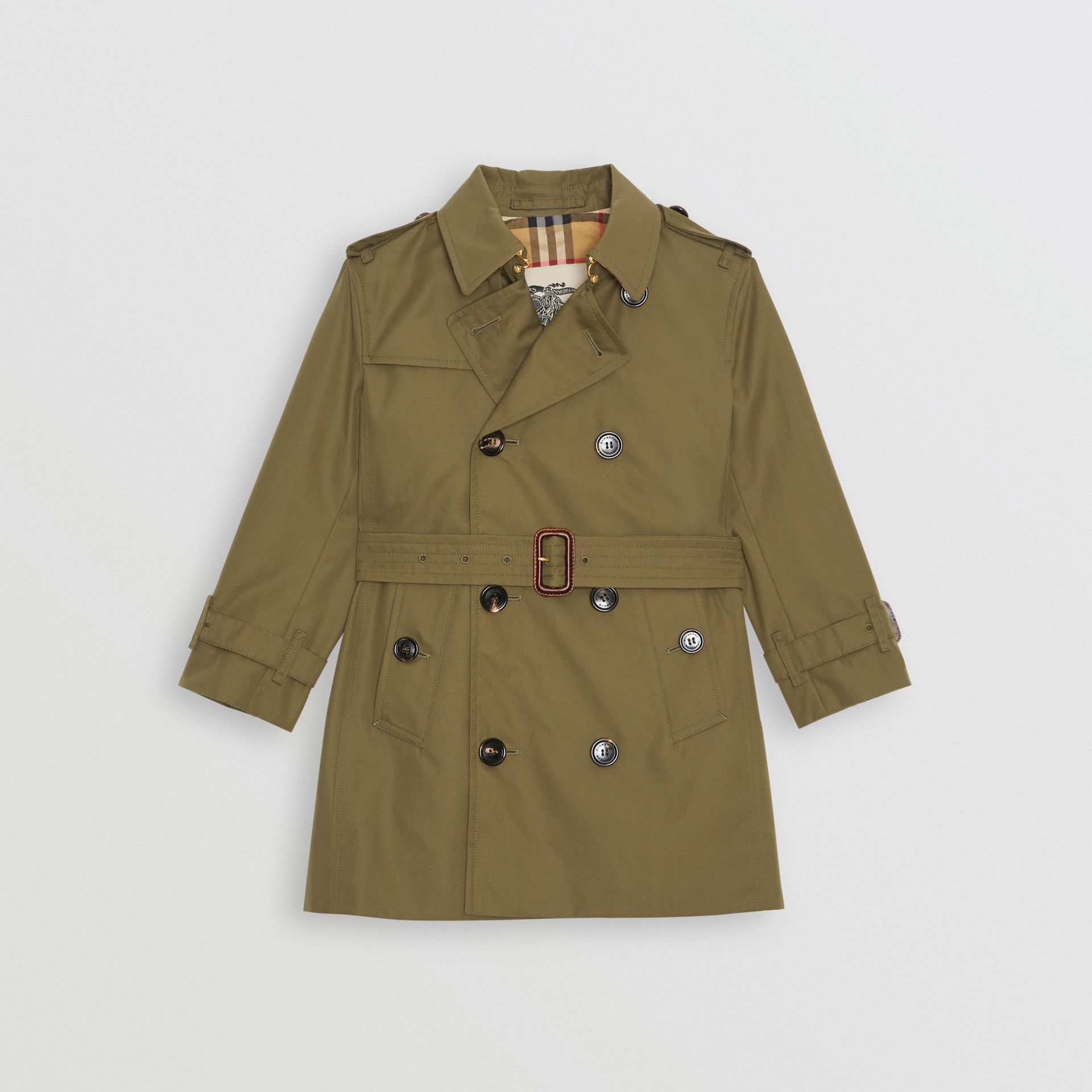 Cotton Gabardine Trench Coat in Military Olive | Burberry - gallery image 0