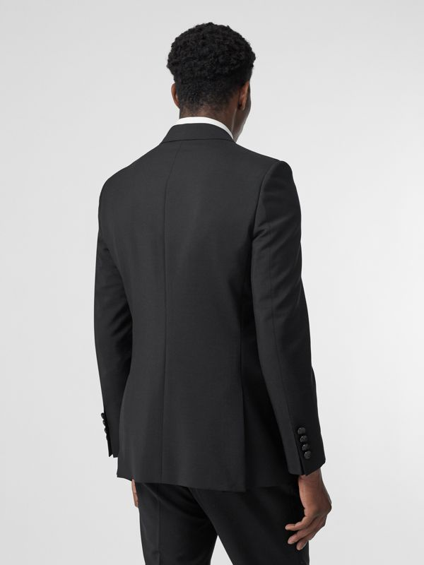 English Fit Wool Mohair Tailored Jacket in Black - Men | Burberry Hong Kong S.A.R - cell image 2