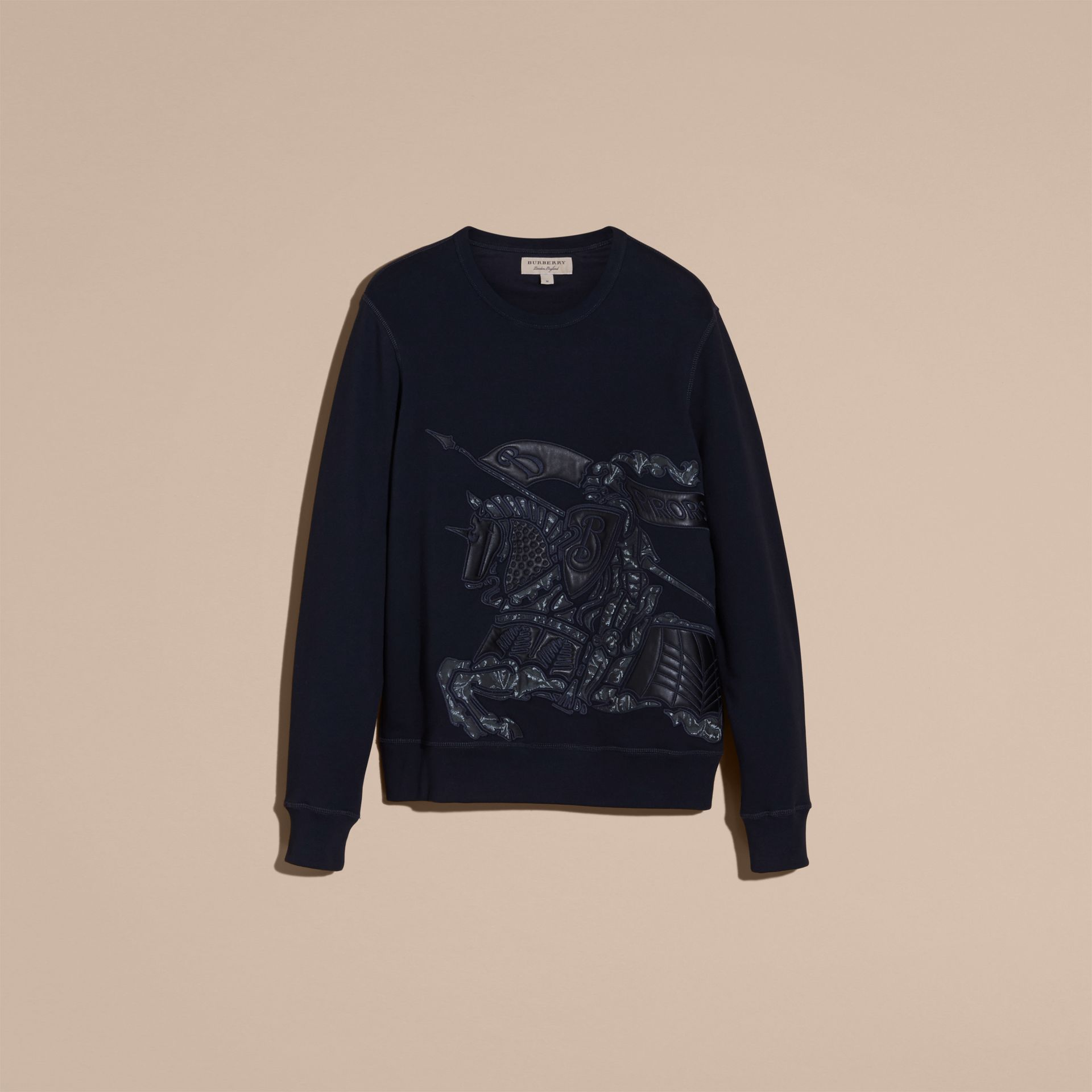 Equestrian Knight Device Cotton Blend Sweatshirt - Men | Burberry - gallery image 4