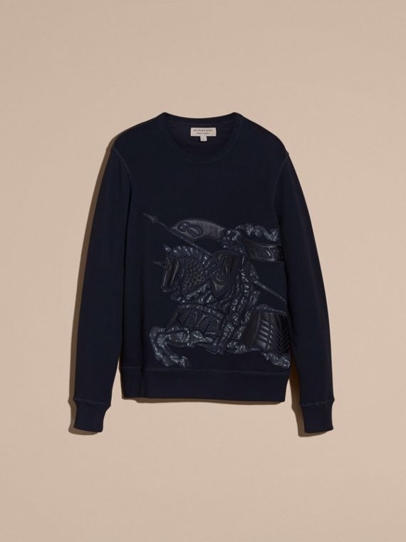 Equestrian Knight Device Cotton Blend Sweatshirt - Men | Burberry - cell image 3