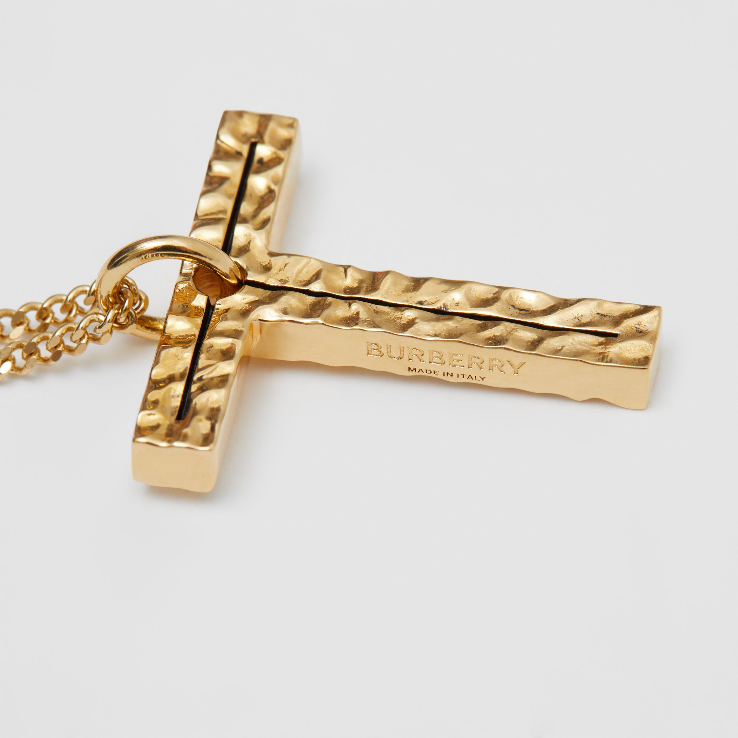 'T' Alphabet Charm Gold-plated Necklace in Light - Women | Burberry - 2
