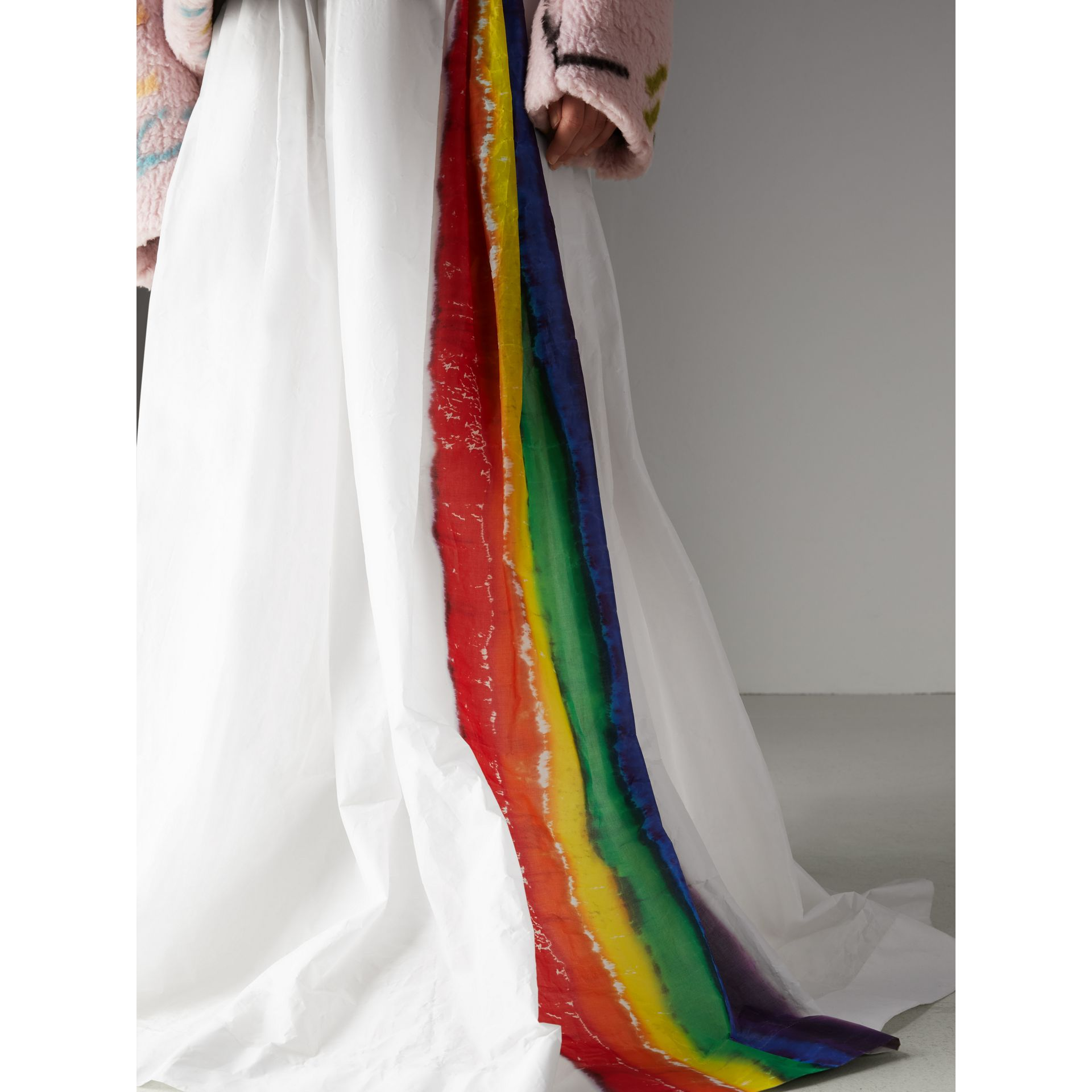 Rainbow Stripe Maxi Skirt - Women | Burberry Hong Kong - gallery image 1