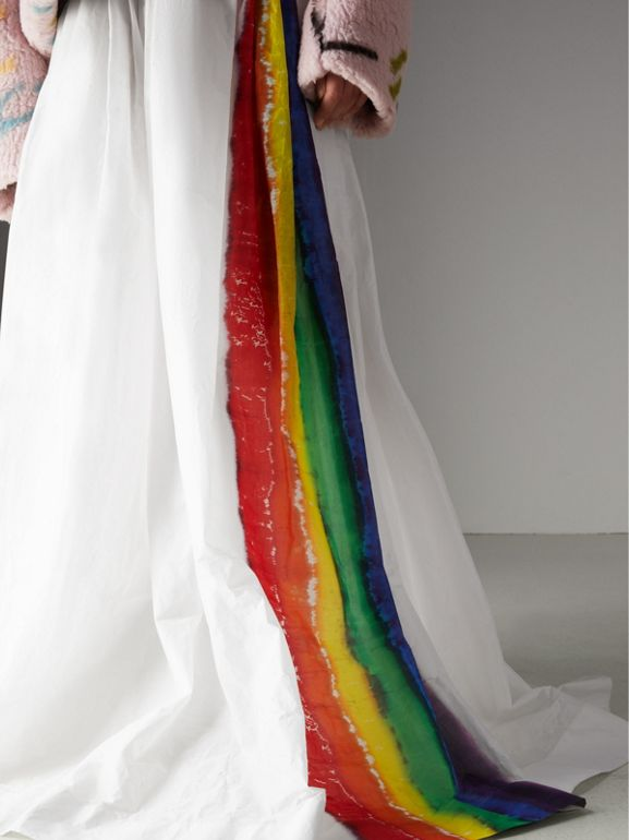 Rainbow Stripe Maxi Skirt - Women | Burberry Singapore - cell image 1