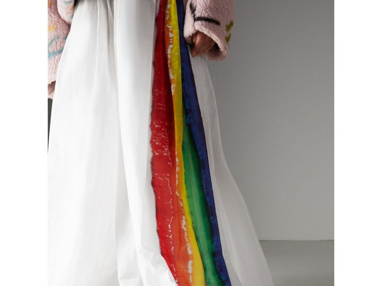 Rainbow Stripe Maxi Skirt - Women | Burberry - cell image 1