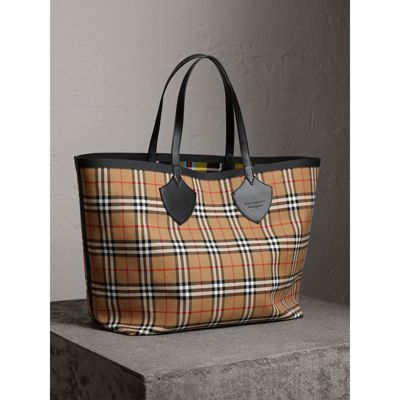 The Giant reversible tote - Black Burberry