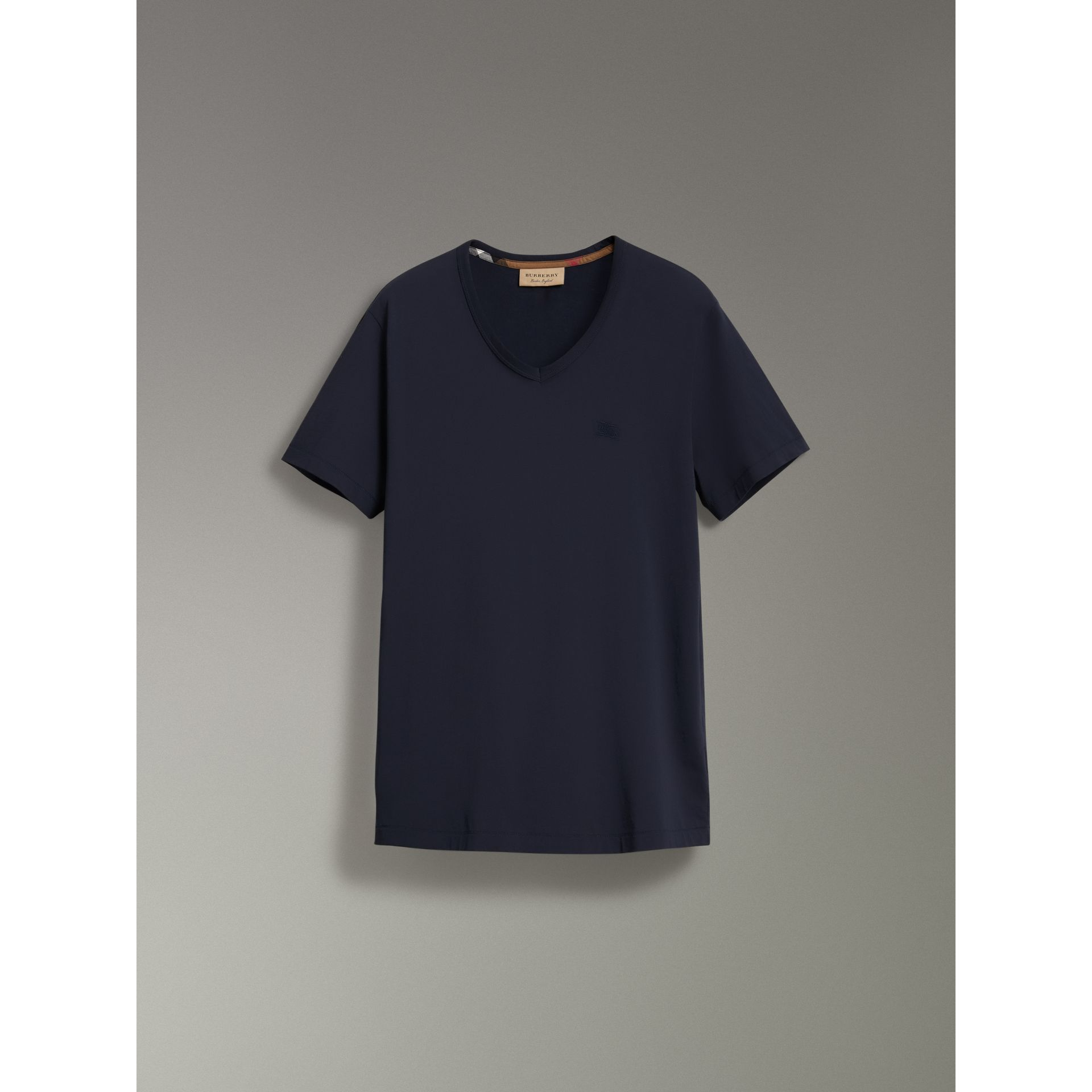 Cotton Jersey T-shirt in Navy - Men | Burberry Canada - gallery image 3