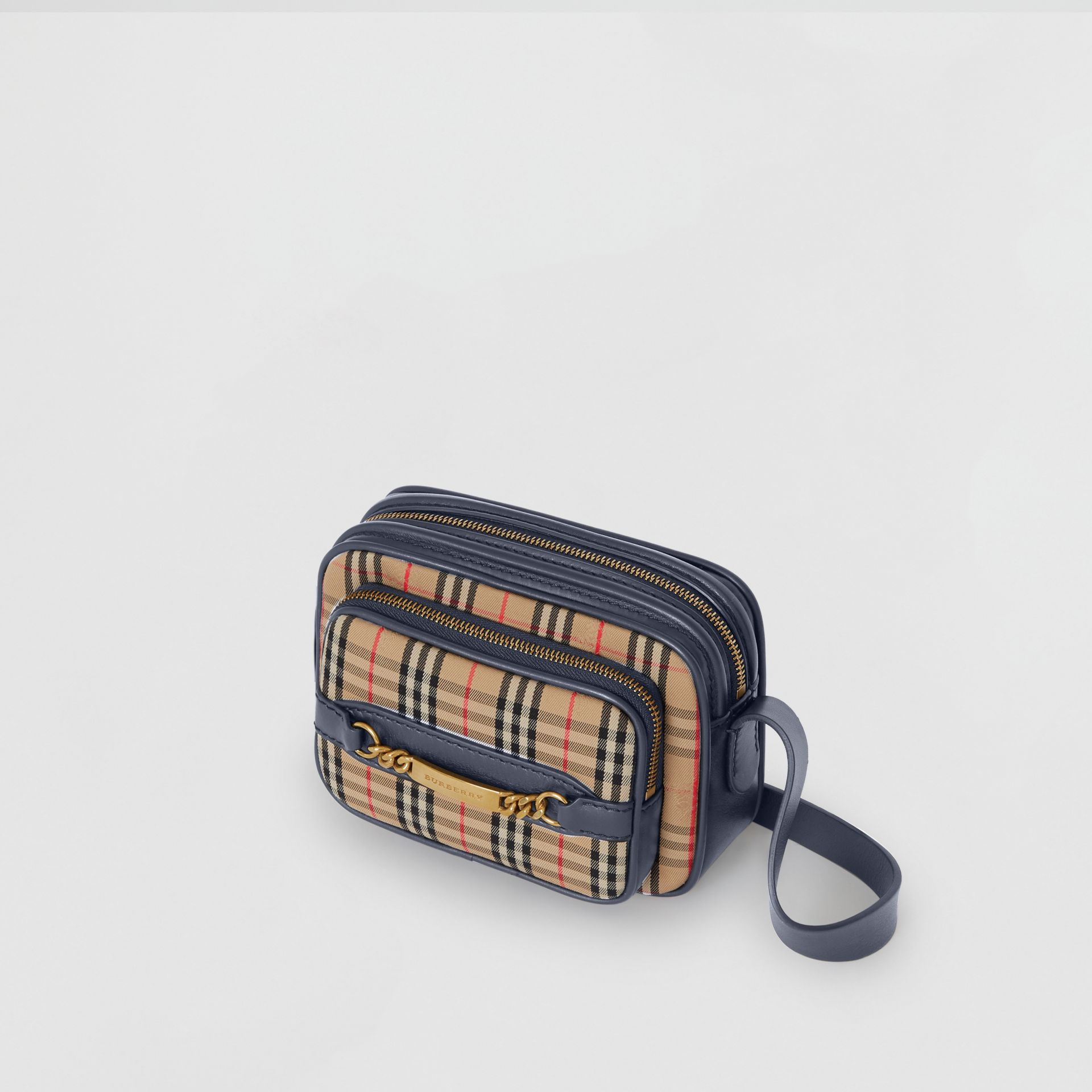 The 1983 Check Link Camera Bag in Ink Blue | Burberry - gallery image 2