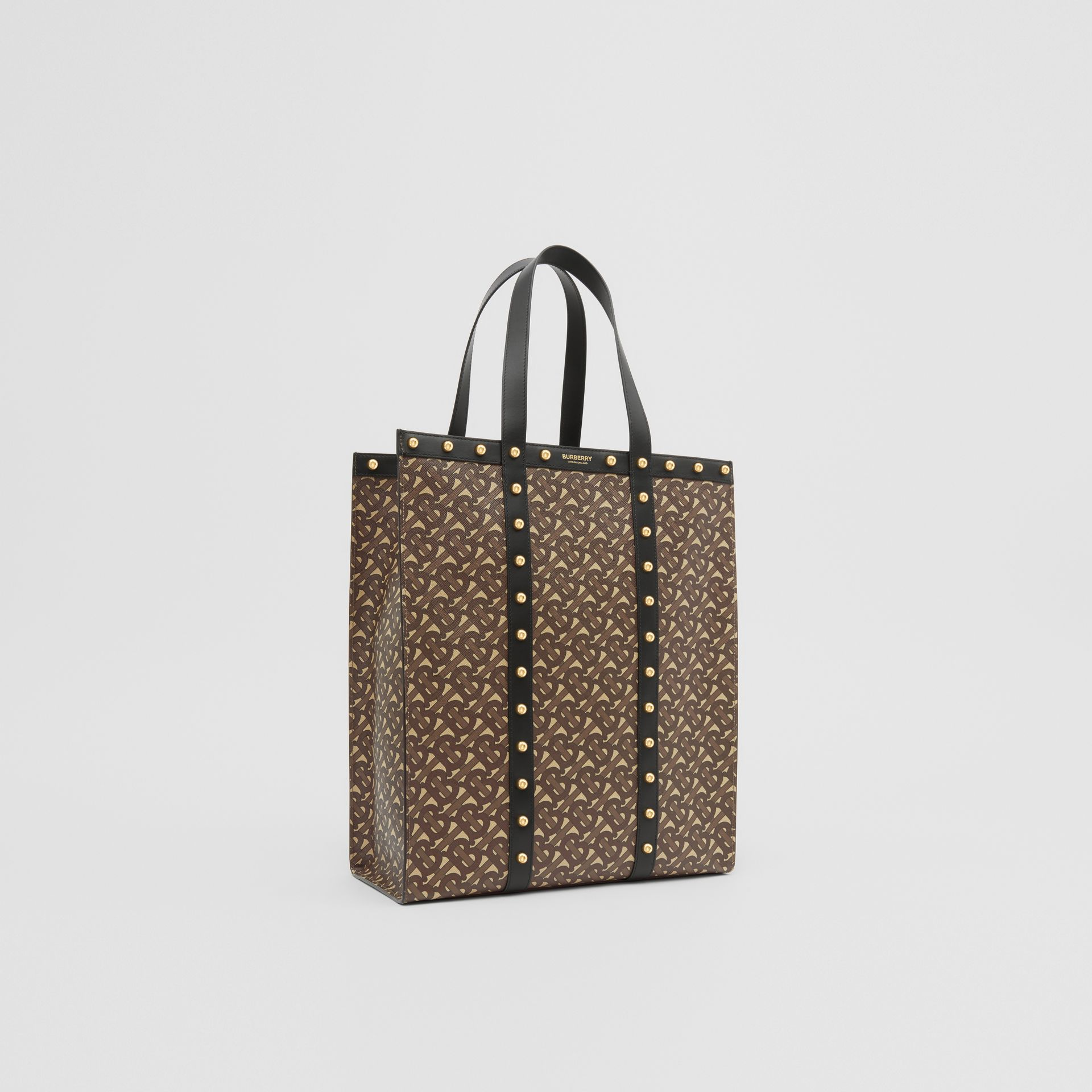 Monogram Print E-canvas Portrait Tote Bag in Black | Burberry Hong Kong S.A.R - gallery image 8