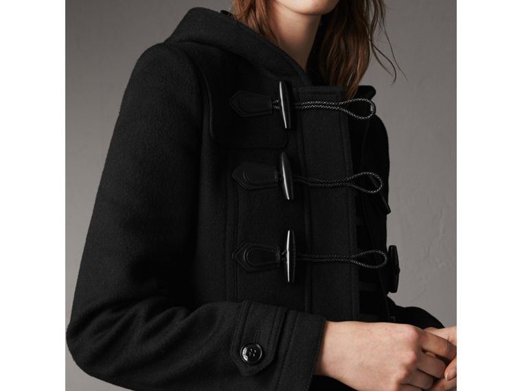 Fitted Wool Duffle Coat in Black - Women | Burberry - cell image 1