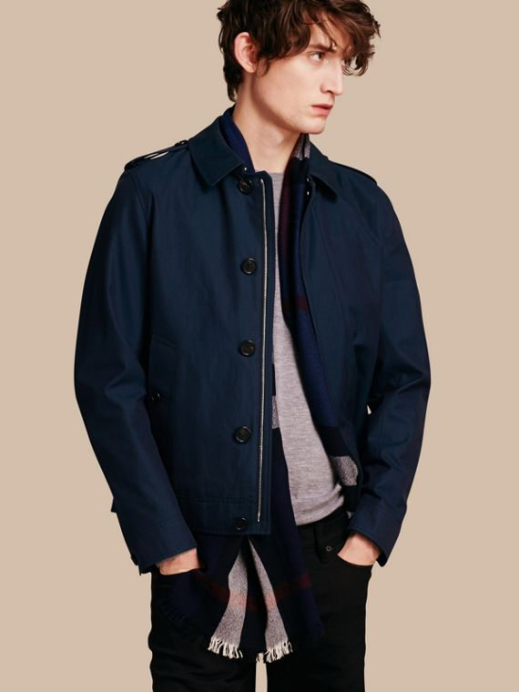 Cotton Gabardine Jacket Flint Blue