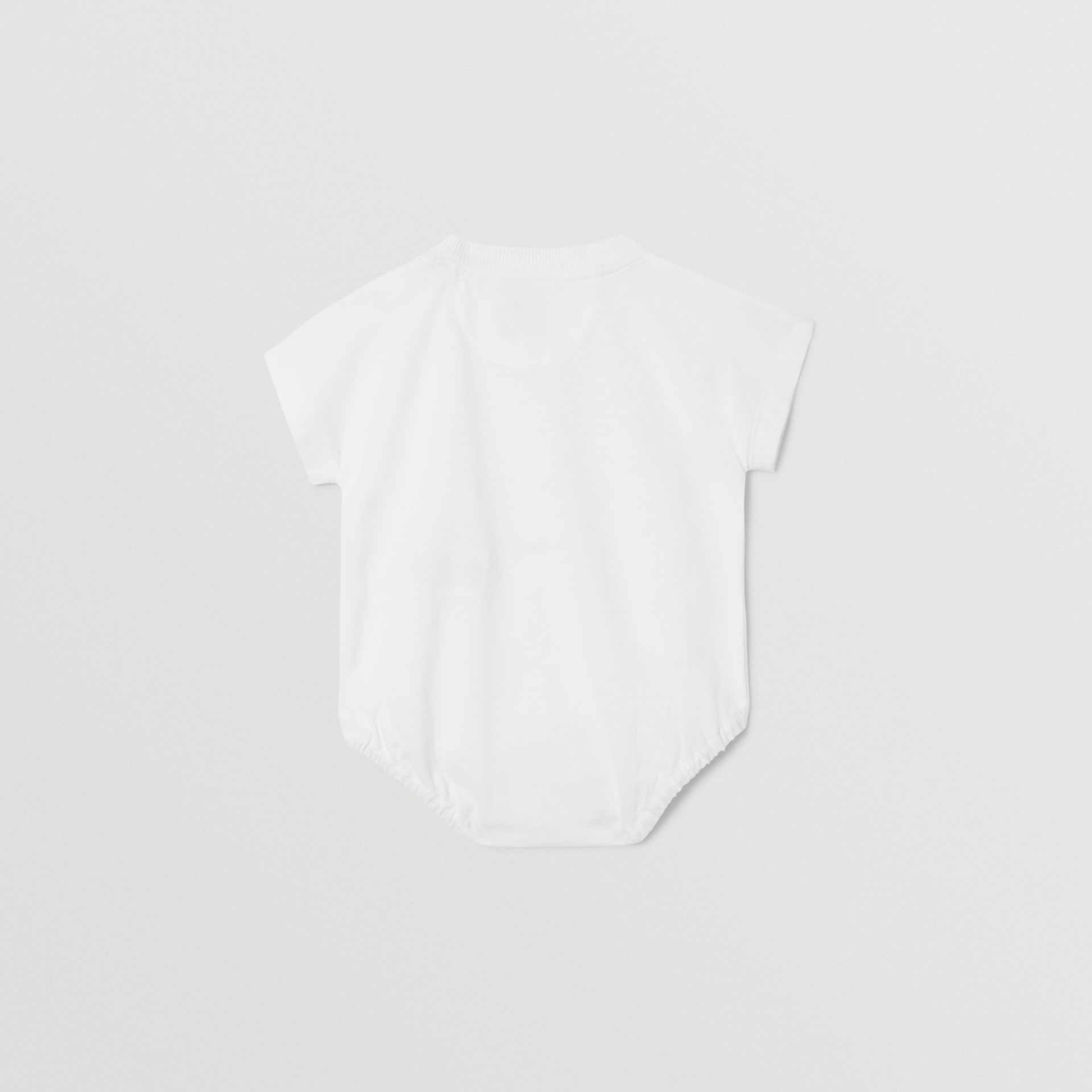 Deer Print Cotton Bodysuit in White - Children   Burberry United States - gallery image 3