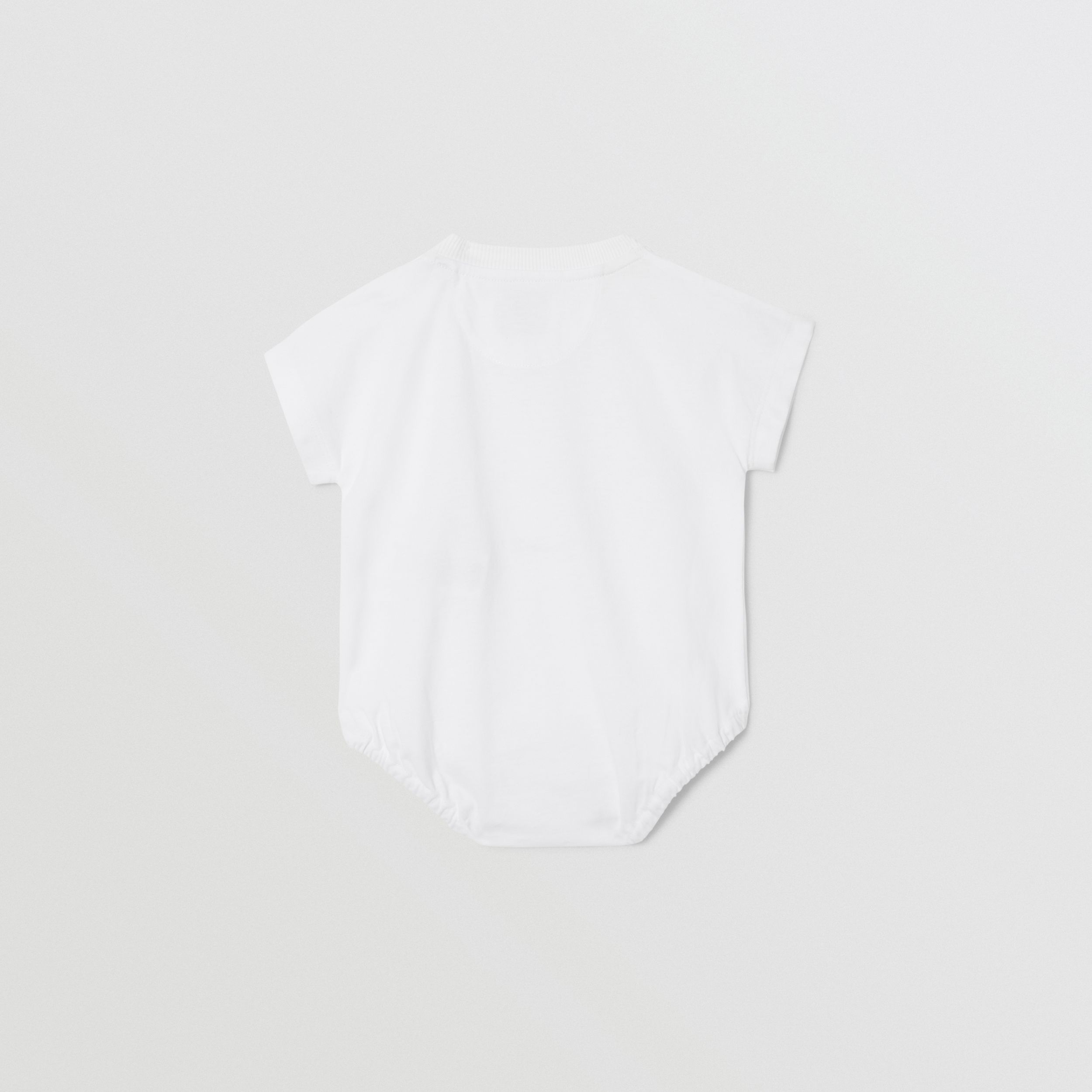 Deer Print Cotton Bodysuit in White - Children | Burberry - 4