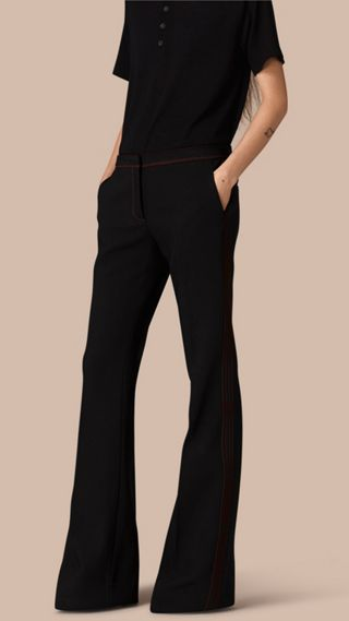 Stretch Boot-cut Trousers