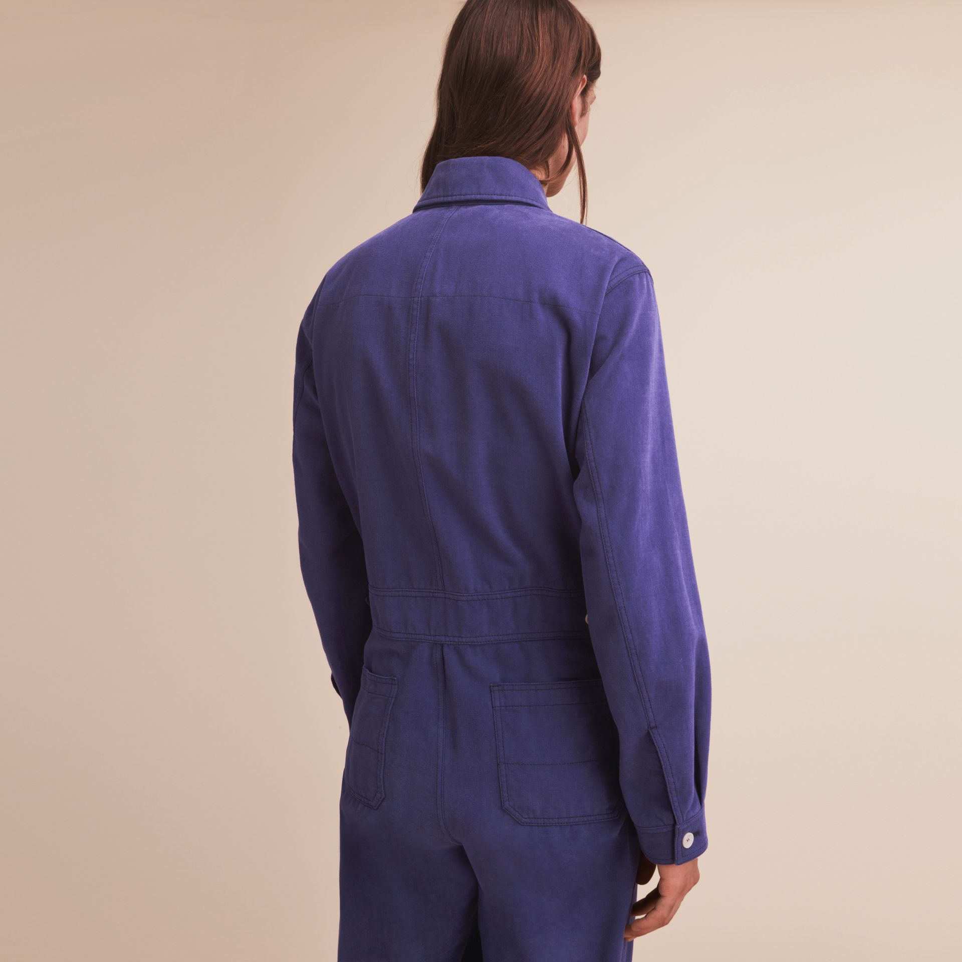 Cotton Artist Overalls in Mid Indigo - Men | Burberry - gallery image 2